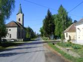Village Center with the Catholic Church